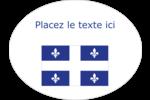 Drapeau du Québec Étiquettes ovales festonnées - gabarit prédéfini. <br/>Utilisez notre logiciel Avery Design & Print Online pour personnaliser facilement la conception.