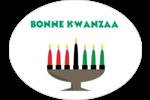Bougie de Kwanzaa Étiquettes ovales festonnées - gabarit prédéfini. <br/>Utilisez notre logiciel Avery Design & Print Online pour personnaliser facilement la conception.