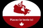 Canadien et fier Étiquettes ovales - gabarit prédéfini. <br/>Utilisez notre logiciel Avery Design & Print Online pour personnaliser facilement la conception.