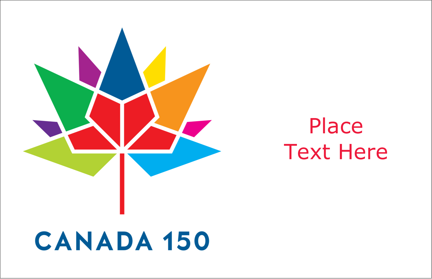 "5½"" x 8½"" Greeting Card - Canada 150 Colourful Mosaic"