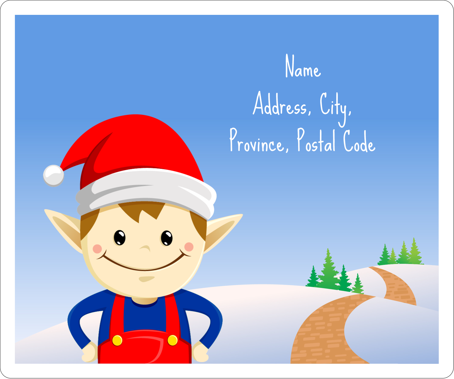 Henry is Avery's secret holiday weapon! He's a cute little elf who loves to label and decorate!