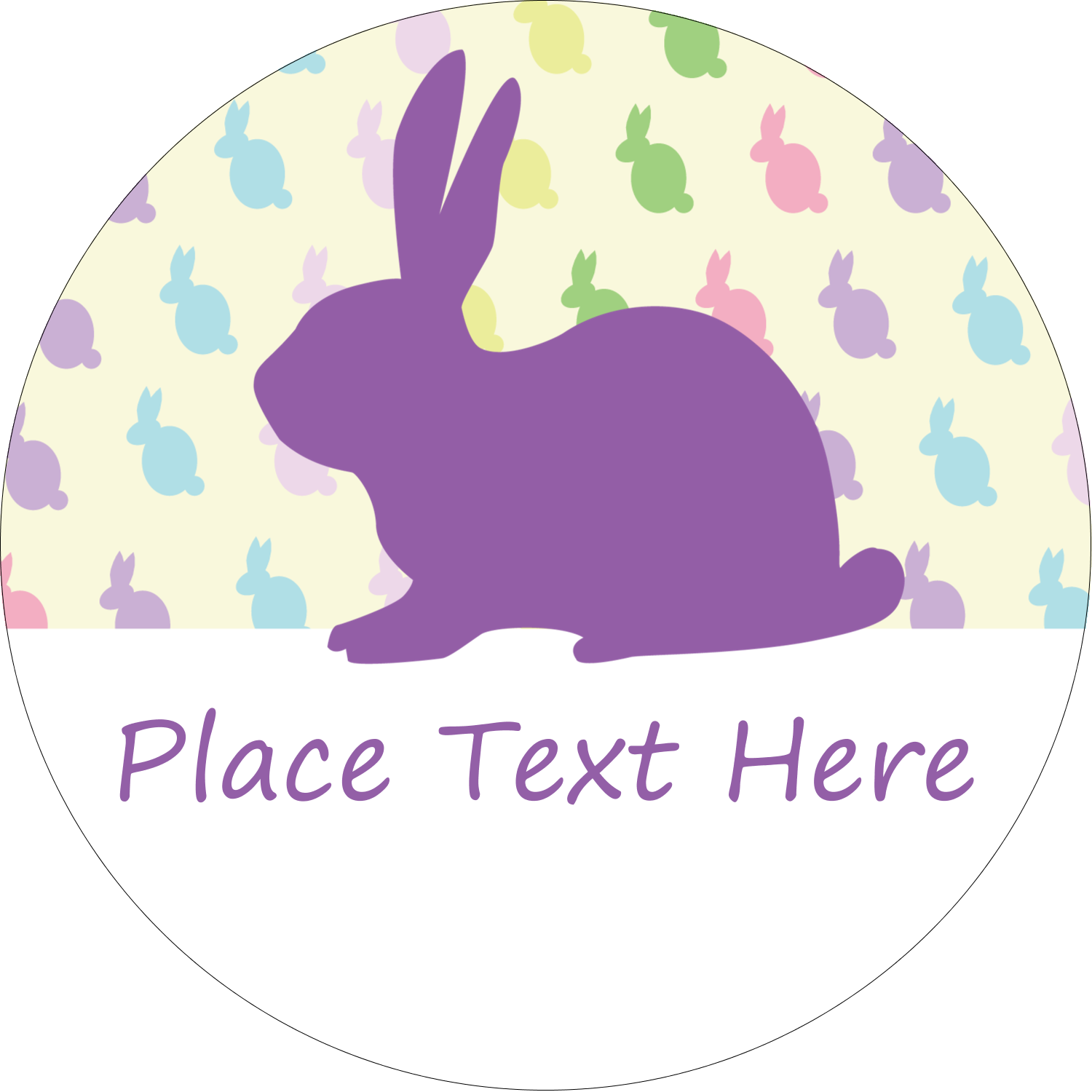 easter bunny pattern predesigned label and card template for your