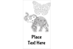 Find your inner chi  with intricate black and white patterned designs, animals, and butterflies.