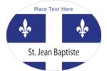 Adorn your projects with the Quebec Flag and two borders of fleurs-de-lis.