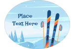 Add winter adventure to personalized projects with pre-designed Alpine Skiing templates.
