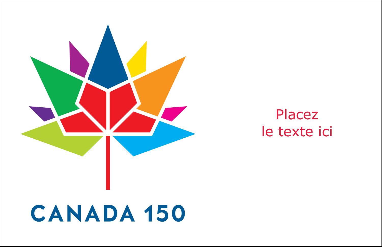 """8½"""" x 11"""" Cartes Et Articles D'Artisanat Imprimables - Mosaïque multicoloure Canada 150"""