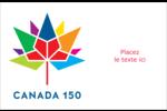 Mosaïque multicoloure Canada 150 Cartes Et Articles D'Artisanat Imprimables - gabarit prédéfini. <br/>Utilisez notre logiciel Avery Design & Print Online pour personnaliser facilement la conception.