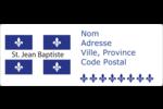 Fête de la Saint-Jean-Baptiste Étiquettes d'adresse - gabarit prédéfini. <br/>Utilisez notre logiciel Avery Design & Print Online pour personnaliser facilement la conception.