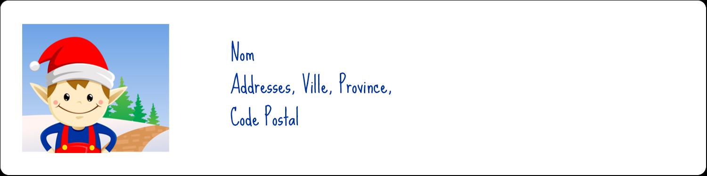 Henri le Lutin  Étiquettes d'adresse - gabarit prédéfini. <br/>Utilisez notre logiciel Avery Design & Print Online pour personnaliser facilement la conception.