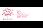 Canada 150 ans Intercalaires / Onglets - gabarit prédéfini. <br/>Utilisez notre logiciel Avery Design & Print Online pour personnaliser facilement la conception.