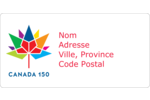 Mosaïque multicoloure Canada 150 Étiquettes de classement écologiques - gabarit prédéfini. <br/>Utilisez notre logiciel Avery Design & Print Online pour personnaliser facilement la conception.