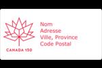 Canada 150 ans Étiquettes de classement écologiques - gabarit prédéfini. <br/>Utilisez notre logiciel Avery Design & Print Online pour personnaliser facilement la conception.