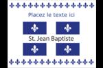 Fête de la Saint-Jean-Baptiste Cartes Et Articles D'Artisanat Imprimables - gabarit prédéfini. <br/>Utilisez notre logiciel Avery Design & Print Online pour personnaliser facilement la conception.