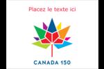 Mosaïque multicolore Canada 150 Badges - gabarit prédéfini. <br/>Utilisez notre logiciel Avery Design & Print Online pour personnaliser facilement la conception.
