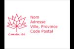 Canada 150 ans Badges - gabarit prédéfini. <br/>Utilisez notre logiciel Avery Design & Print Online pour personnaliser facilement la conception.