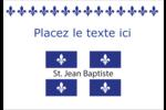 Fête de la Saint-Jean-Baptiste Étiquettes à codage couleur - gabarit prédéfini. <br/>Utilisez notre logiciel Avery Design & Print Online pour personnaliser facilement la conception.
