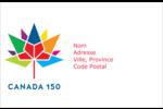 Mosaïque multicoloure Canada 150 Étiquettes d'adresse - gabarit prédéfini. <br/>Utilisez notre logiciel Avery Design & Print Online pour personnaliser facilement la conception.