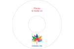 Mosaïque multicolore Canada 150 Étiquettes de classement - gabarit prédéfini. <br/>Utilisez notre logiciel Avery Design & Print Online pour personnaliser facilement la conception.