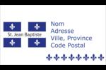 Fête de la Saint-Jean-Baptiste Cartes Pour Le Bureau - gabarit prédéfini. <br/>Utilisez notre logiciel Avery Design & Print Online pour personnaliser facilement la conception.