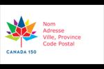 Mosaïque multicoloure Canada 150 Cartes Pour Le Bureau - gabarit prédéfini. <br/>Utilisez notre logiciel Avery Design & Print Online pour personnaliser facilement la conception.