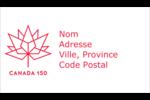 Canada 150 ans Cartes Pour Le Bureau - gabarit prédéfini. <br/>Utilisez notre logiciel Avery Design & Print Online pour personnaliser facilement la conception.