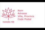 Canada 150 ans Carte d'affaire - gabarit prédéfini. <br/>Utilisez notre logiciel Avery Design & Print Online pour personnaliser facilement la conception.
