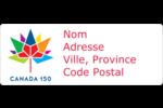 Mosaïque multicolore Canada 150 Étiquettes D'Adresse - gabarit prédéfini. <br/>Utilisez notre logiciel Avery Design & Print Online pour personnaliser facilement la conception.