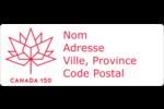 Canada 150 ans Étiquettes D'Adresse - gabarit prédéfini. <br/>Utilisez notre logiciel Avery Design & Print Online pour personnaliser facilement la conception.