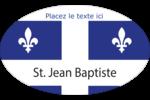 Fête de la Saint-Jean-Baptiste  Étiquettes carrées - gabarit prédéfini. <br/>Utilisez notre logiciel Avery Design & Print Online pour personnaliser facilement la conception.