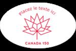 Canada 150 ans Étiquettes carrées - gabarit prédéfini. <br/>Utilisez notre logiciel Avery Design & Print Online pour personnaliser facilement la conception.