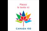 Mosaïque multicolore Canada 150 Étiquettes carrées - gabarit prédéfini. <br/>Utilisez notre logiciel Avery Design & Print Online pour personnaliser facilement la conception.