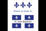 Fête de la Saint-Jean-Baptiste  Étiquettes enveloppantes - gabarit prédéfini. <br/>Utilisez notre logiciel Avery Design & Print Online pour personnaliser facilement la conception.