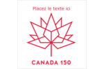 Canada 150 ans Étiquettes enveloppantes - gabarit prédéfini. <br/>Utilisez notre logiciel Avery Design & Print Online pour personnaliser facilement la conception.