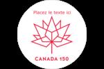 Canada 150 ans Étiquettes rondes - gabarit prédéfini. <br/>Utilisez notre logiciel Avery Design & Print Online pour personnaliser facilement la conception.