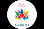 Mosaïque multicolore Canada 150 Étiquettes arrondies - gabarit prédéfini. <br/>Utilisez notre logiciel Avery Design & Print Online pour personnaliser facilement la conception.