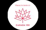 Canada 150 ans Étiquettes arrondies - gabarit prédéfini. <br/>Utilisez notre logiciel Avery Design & Print Online pour personnaliser facilement la conception.