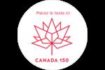 Canada 150 ans Étiquettes de classement - gabarit prédéfini. <br/>Utilisez notre logiciel Avery Design & Print Online pour personnaliser facilement la conception.