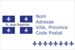 Fête de la Saint-Jean-Baptiste  Étiquettes rectangulaires - gabarit prédéfini. <br/>Utilisez notre logiciel Avery Design & Print Online pour personnaliser facilement la conception.