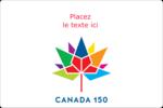 Mosaïque multicolore Canada 150 Étiquettes rectangulaires - gabarit prédéfini. <br/>Utilisez notre logiciel Avery Design & Print Online pour personnaliser facilement la conception.