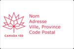 Canada 150 ans Étiquettes rectangulaires - gabarit prédéfini. <br/>Utilisez notre logiciel Avery Design & Print Online pour personnaliser facilement la conception.