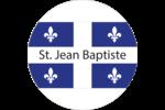 Fête de la Saint-Jean-Baptiste  Étiquettes arrondies - gabarit prédéfini. <br/>Utilisez notre logiciel Avery Design & Print Online pour personnaliser facilement la conception.