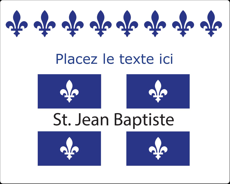 """2"""" Diameter Étiquettes rondes gaufrées - Fête de la Saint-Jean-Baptiste"""