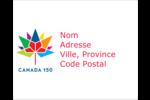 Mosaïque multicolore Canada 150 Étiquettes rondes gaufrées - gabarit prédéfini. <br/>Utilisez notre logiciel Avery Design & Print Online pour personnaliser facilement la conception.