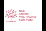 Canada 150 ans Étiquettes rondes gaufrées - gabarit prédéfini. <br/>Utilisez notre logiciel Avery Design & Print Online pour personnaliser facilement la conception.
