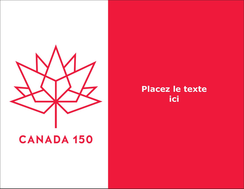 "Canada 150 ans - Carte Postale - 5½"" x 4¼"" | Avery"