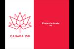 Canada 150 ans Carte Postale - gabarit prédéfini. <br/>Utilisez notre logiciel Avery Design & Print Online pour personnaliser facilement la conception.