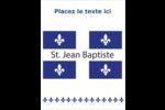 Fête de la Saint-Jean-Baptiste Carte Postale - gabarit prédéfini. <br/>Utilisez notre logiciel Avery Design & Print Online pour personnaliser facilement la conception.