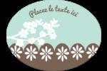 Fleurs printanières pour mariage Étiquettes ovales festonnées - gabarit prédéfini. <br/>Utilisez notre logiciel Avery Design & Print Online pour personnaliser facilement la conception.