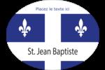 Fête de la Saint-Jean-Baptiste  Étiquettes ovales festonnées - gabarit prédéfini. <br/>Utilisez notre logiciel Avery Design & Print Online pour personnaliser facilement la conception.