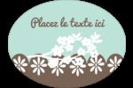 Fleurs printanières pour mariage Étiquettes ovales - gabarit prédéfini. <br/>Utilisez notre logiciel Avery Design & Print Online pour personnaliser facilement la conception.